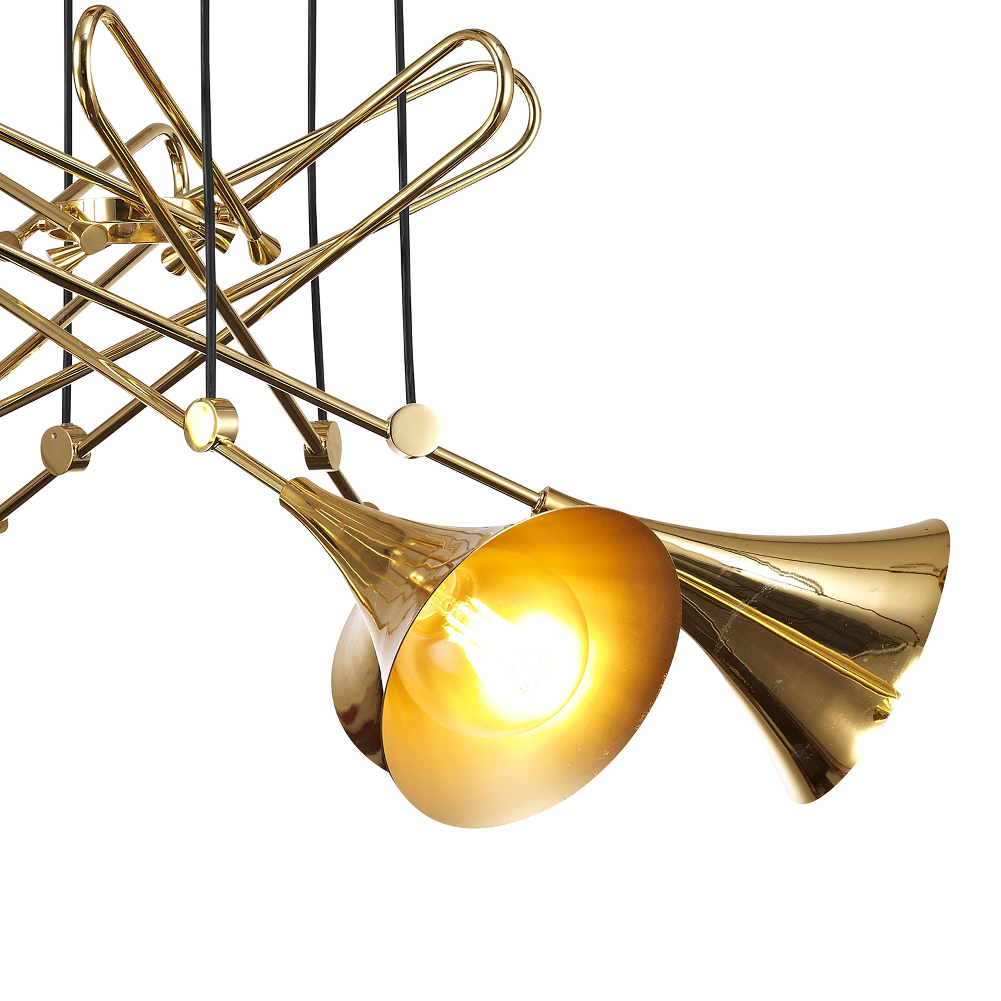 Подвесная люстра Mantra Jazz 5895, золото, металл - фото 4