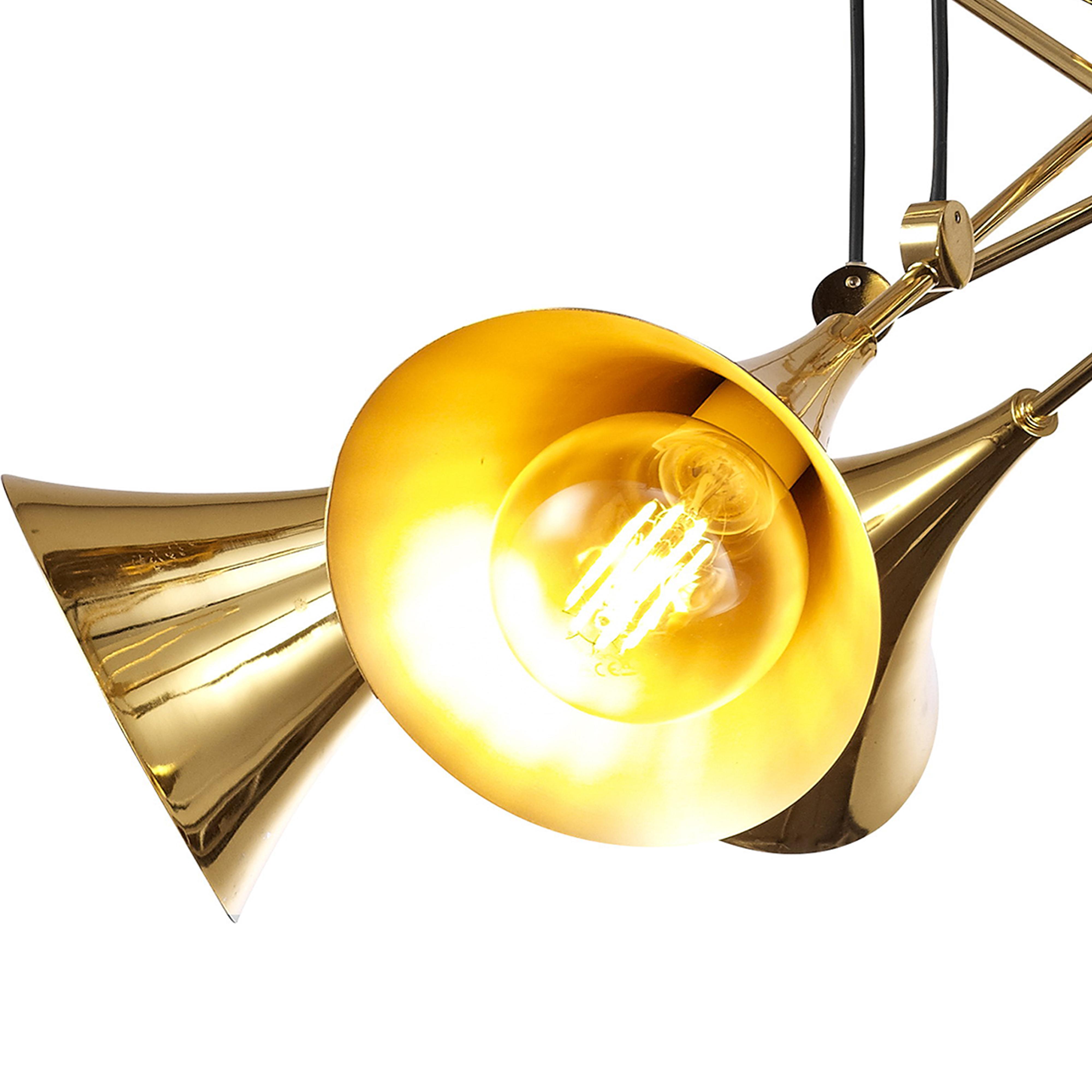 Подвесная люстра Mantra Jazz 5895, золото, металл - фото 6