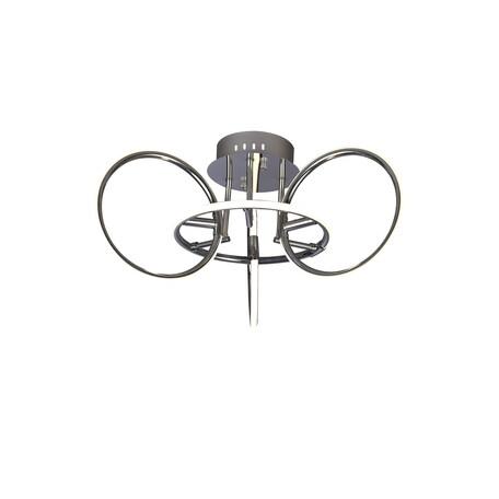 Потолочная люстра Mantra Aros 5756, хром, белый с хромом, металл, пластик