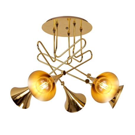 Потолочная люстра Mantra Jazz 5897, золото, металл