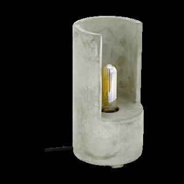 Настольная лампа Eglo Lynton 49111, 1xE27x60W, серый, бетон