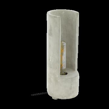 Настольная лампа Eglo Lynton 49112, 1xE27x60W, серый, бетон
