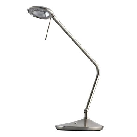 Настольная светодиодная лампа De Markt Гэлэкси 632035901, LED 7W 3000K 700lm, серебро, металл