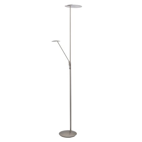 Светодиодный торшер De Markt Гэлэкси 15 632045702, LED 37W 3000K 3700lm, никель, металл