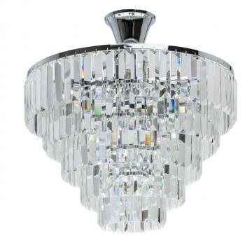 Потолочная люстра MW-Light Аделард 642010705, 5xE14x60W, хром, прозрачный, металл, хрусталь