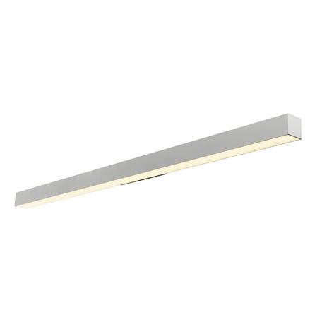 Настенный светодиодный светильник для подсветки зеркал SLV Q-LINE® WALL LED 1000670, LED 3000K, серый