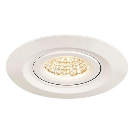 Встраиваемый светодиодный светильник SLV KINI 1000833, IP65, LED 3000K, белый