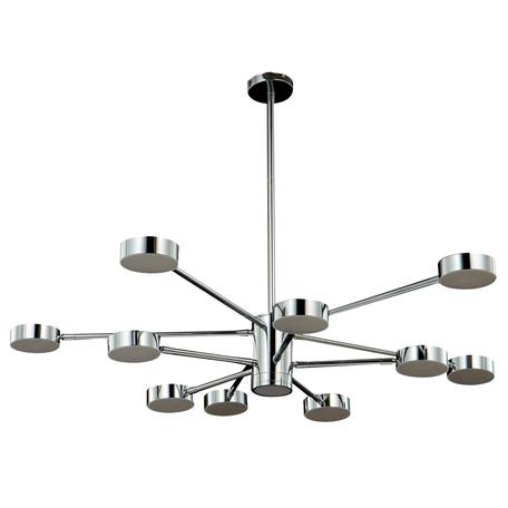 Светодиодный светильник Crystal Lux GORACIO SP10+1 D1100 CHROME 0690/311, LED 77W