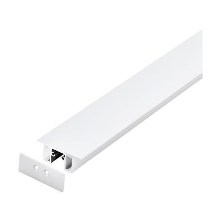 Профиль для светодиодной ленты с рассеивателем Eglo Surface Profile 63381, белый, металл, пластик