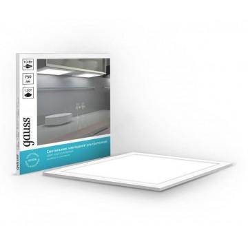 Мебельный светодиодный светильник Gauss 846511210, LED 10W 4200K 750lm CRI>80, белый, пластик