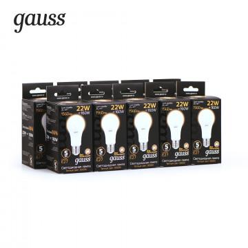 Светодиодная лампа Gauss 102502122 груша E27 22W, 3000K (теплый) CRI>90 150-265V, гарантия 5 лет - миниатюра 2