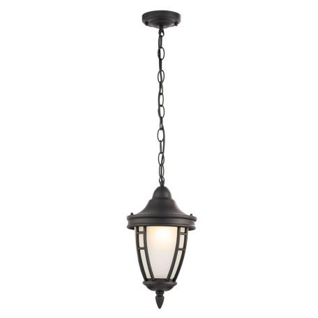 Подвесной светильник Maytoni Rivoli O027PL-01B, IP44, 1xE27x60W, черный, металл, металл со стеклом
