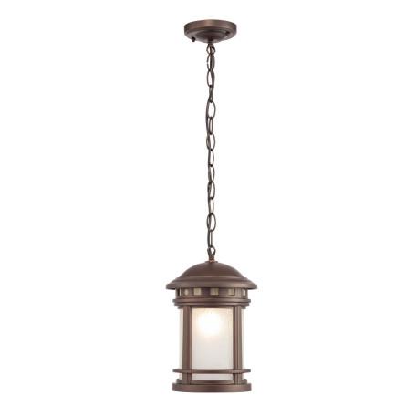 Подвесной светильник Maytoni Salamanca O031PL-01BR, IP44, 1xE27x60W, коричневый, металл, металл со стеклом