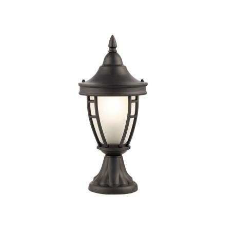 Садово-парковый светильник Maytoni Rivoli O027FL-01B, IP44, 1xE27x60W, черный, металл, металл со стеклом, стекло с металлом