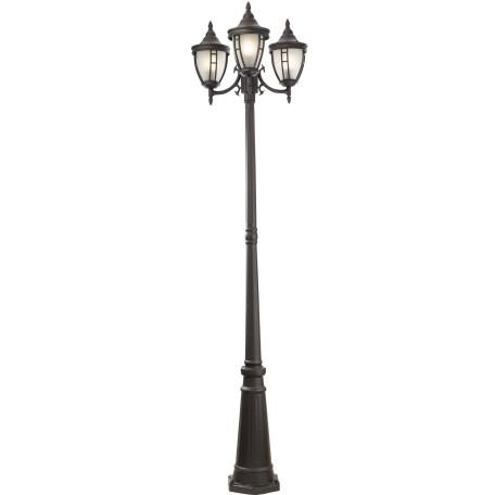 Уличный фонарь Maytoni Rivoli O026FL-03B, IP44, 3xE27x60W, черный, металл, металл со стеклом