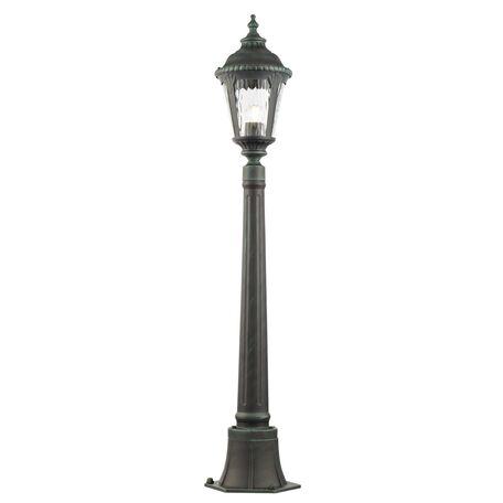 Уличный фонарь Maytoni Goiri O028FL-01GN, IP44, 1xE27x60W, бирюзовый, бирюзовый с прозрачным, прозрачный с бирюзовым, металл, металл со стеклом, стекло с металлом