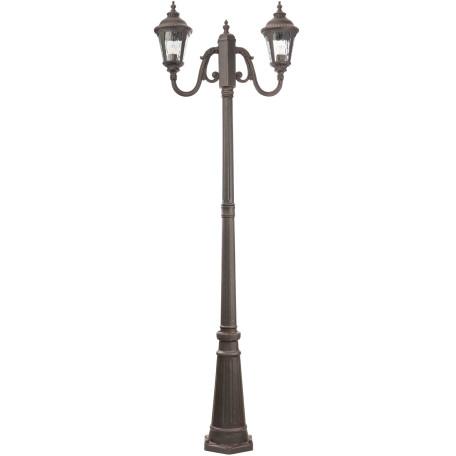 Уличный фонарь Maytoni Goiri O028FL-03BZ, IP44, 2xE27x60W, бронза, прозрачный, металл, металл со стеклом