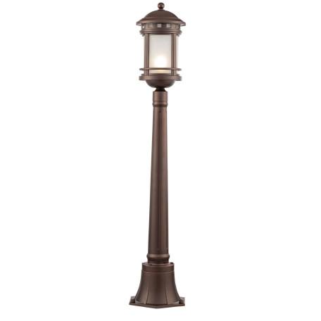 Уличный фонарь Maytoni Salamanca O031FL-01BR, IP44, 1xE27x60W, коричневый, коричневый с белым, белый с коричневым, металл, металл со стеклом, стекло с металлом