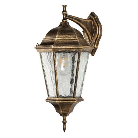 Настенный светильник Arte Lamp Genova A1204AL-1BN, IP44, 1xE27x75W, бронза, прозрачный, металл, металл со стеклом