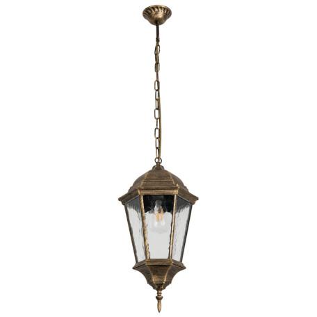 Подвесной светильник Arte Lamp Genova A1204SO-1BN, IP44, 1xE27x75W, бронза, прозрачный, металл, металл со стеклом
