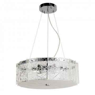 Подвесной светильник Arte Lamp Galatea A1222SP-6CC, 6xE14x60W, хром, прозрачный, металл, хрусталь