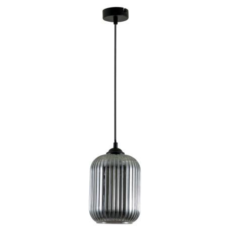 Подвесной светильник Arte Lamp Arwen A1902SP-1BK, 1xE27x60W, черный, дымчатый, металл