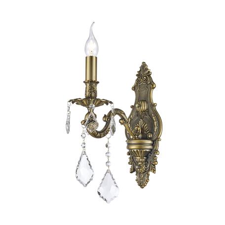 Бра Dio D'Arte Barolo E 2.1.1.200 A, 1xE14x40W, бронза, прозрачный, металл, хрусталь