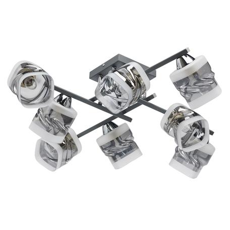 Потолочная люстра De Markt Олимпия 638016008, 8xE27x60W, серый, дымчатый, металл, стекло