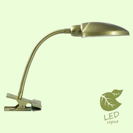 Настольная лампа Lussole Roma GRLST-4274-01, IP21, 1xE14x6W, матовое золото, металл