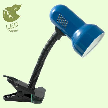 Настольная лампа Lussole Promo, Sale GRLST-4924-01, IP21, 1xE27x10W, черный, синий, металл