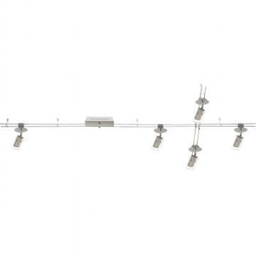 Рельсовая система освещения De Markt 550011405, LED 20W 3000K (теплый), никель, хром, металл, пластик