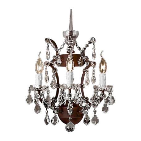 Бра L'Arte Luce Luxury Rococo L27923.65, 3xE14x40W, металл, хрусталь