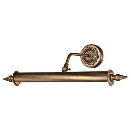 Настенный светильник для подсветки картин L'Arte Luce Leonardo L17372.51, 2xE14x25W, бронза, металл