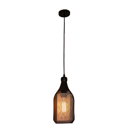 Подвесной светильник L'Arte Luce Diamond L22762.94, 1xE27x60W, коричневый, металл, металл со стеклом/пластиком