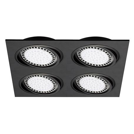 Встраиваемый светильник Zumaline Boxy 20073-BK, 4xGU10x15W, черный, металл