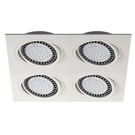 Встраиваемый светильник Zumaline Boxy 20073-WH, 4xGU10x15W, белый, металл