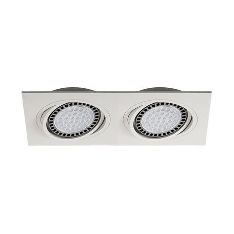 Встраиваемый светильник Zumaline Boxy 20072-WH, 2xGU10x15W, белый, металл