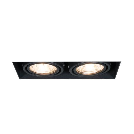 Встраиваемый светильник Zumaline Oneon 94362-BK, 2xGU10x50W, черный, металл