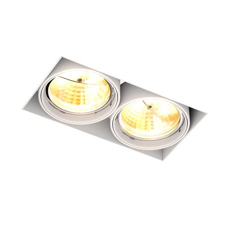 Встраиваемый светильник Zumaline Oneon 94364-WH, 2xGU10x15W, белый, металл