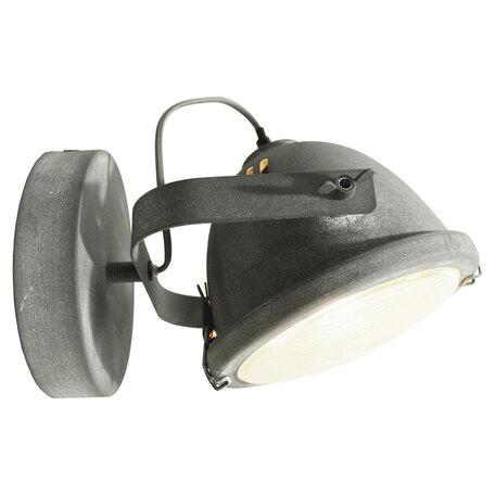 Настенный светильник Lussole Brentwood LSP-9880w, IP21, 1xE27x60W, серый, металл, металл со стеклом