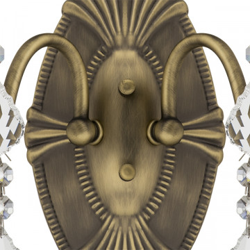 Бра Lightstar Osgona Classic 700621, 2xE14x60W, бронза, прозрачный, металл с хрусталем, хрусталь - миниатюра 3