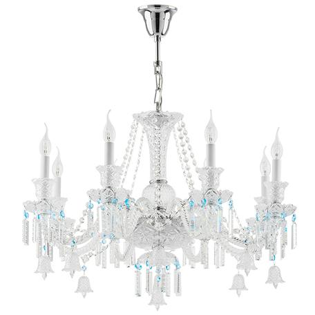 Подвесная люстра Lightstar Osgona Campana 716084, 8xE14x60W, хром, прозрачный, стекло, хрусталь