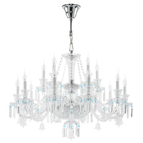 Подвесная люстра Lightstar Osgona Campana 716154, 15xE14x60W, хром, прозрачный, стекло, хрусталь