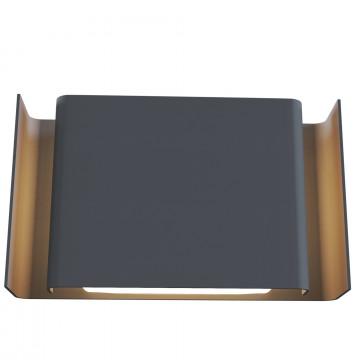 Настенный светодиодный светильник Maytoni Gran Via O005WL-L12GR, IP54, LED 12W 3000K 460lm CRI83, серый, металл