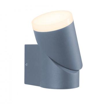 Настенный светодиодный светильник с регулировкой направления света Maytoni Neal's Yard O007WL-L6GR, IP54, LED 6W 3000K (теплый), серый, металл