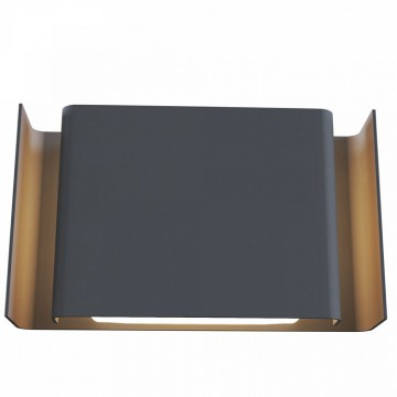 Настенный светильник Maytoni Gran Via O005WL-L12GR, IP54, серый, металл
