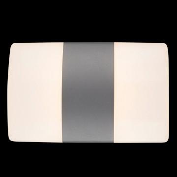Настенный светильник Maytoni Via del Corso O006WL-L12GR, IP54, серый, белый, металл
