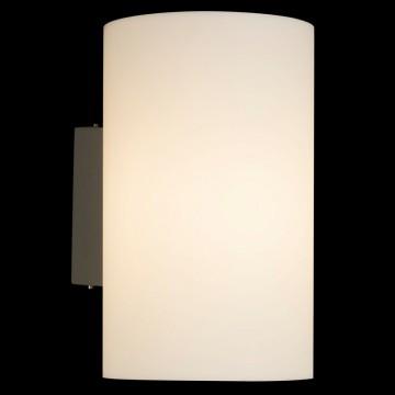 Настенный светильник Maytoni Camden O008WL-01S, IP54, серебро, белый, металл