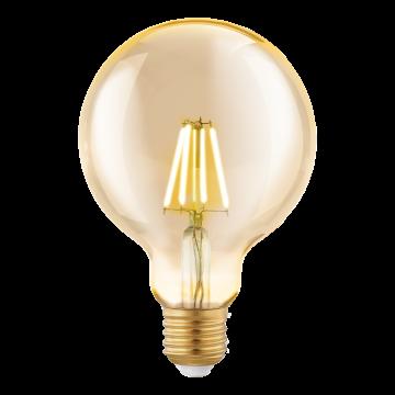 Филаментная светодиодная лампа Eglo 11522 шар E27 4W, 2200K (теплый) CRI>80, гарантия 5 лет