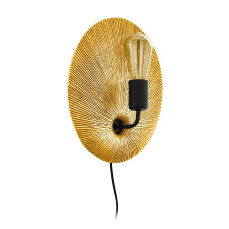 Бра Eglo Gascueria 98379, 1xE27x60W, матовое золото, металл с пластиком